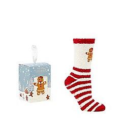 Lounge & Sleep - Brown gingerbread socks