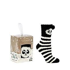 Lounge & Sleep - Cream panda boxed socks