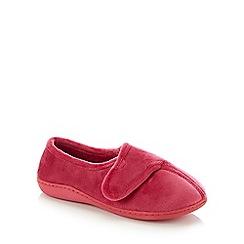 Lounge & Sleep - Pink Classic Velvet Slippers