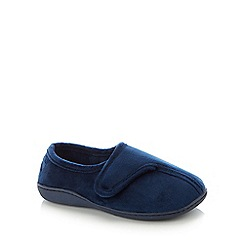 Lounge & Sleep - Navy Classic Velvet Slippers