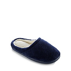 Lounge & Sleep - Navy Closed Toe Mule Slippers