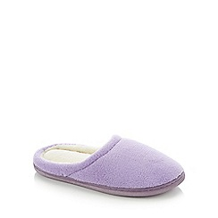Lounge & Sleep - Purple Closed Toe Mule Slippers