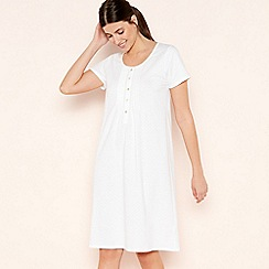 Lounge & Sleep - Cream Classic Spotted Cotton Nightdress