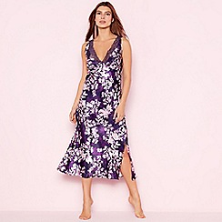 The Collection - Purple floral print 'Mystry' satin nightdress