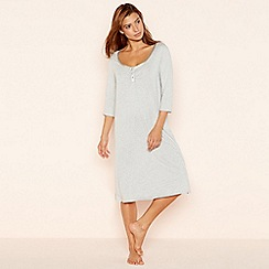 Lounge & Sleep - Grey button placket cotton blend nightshirt