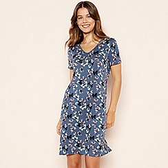 Lounge & Sleep - Mid Blue Butterfly Print Soft Touch Nightdress