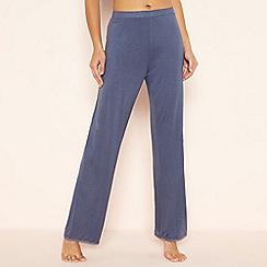 Lounge & Sleep - Blue butterfly plain pyjama bottoms