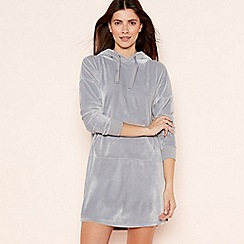 Lounge & Sleep - Grey Hooded Lounge Dress