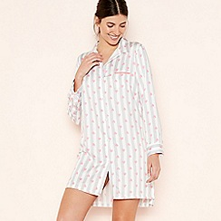 Lounge & Sleep - Multicoloured Heart Print Nightshirt