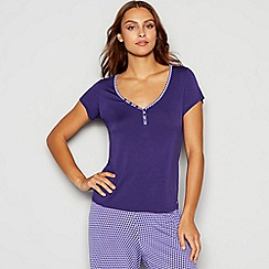 J by Jasper Conran - Purple geometric trim pyjama t-shirt