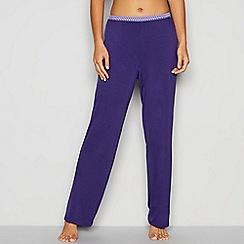 J by Jasper Conran - Purple geometric trim pyjama bottoms