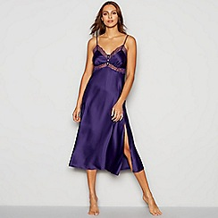 J by Jasper Conran - Purple Lace Trim Midi Chemise