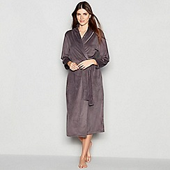 J by Jasper Conran - Grey 'Island' Fleece Robe