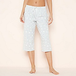Lounge & Sleep - Grey Daisy Print 'Flora' Cropped Pyjama Bottoms