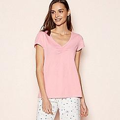 Lounge & Sleep - Pink Metallic Trim Pyjama Top