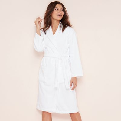 Lounge   Sleep White cotton towelling dressing gown  98d6f1480