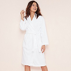 Lounge & Sleep - White cotton towelling dressing gown