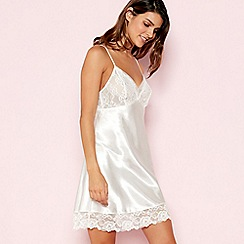 The Collection - White Floral Lace Chemise