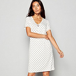 J by Jasper Conran - Ivory Frost Print Short Sleeve Nightdress
