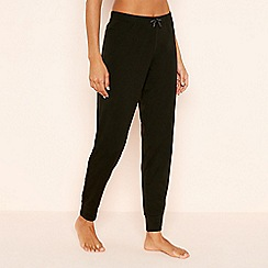 Lounge & Sleep - Black 'Rainbow' Cuffed Cotton Pyjama Bottoms