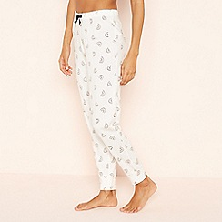 Lounge & Sleep - Cream 'Rainbow' Cotton Pyjama Bottoms
