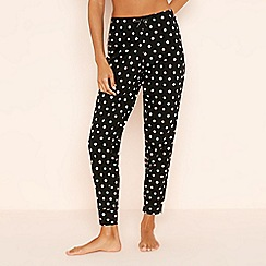Lounge & Sleep - Black Spotted 'Rainbow' Cotton Pyjama Bottoms