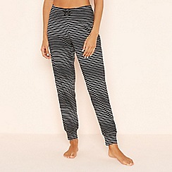 Lounge & Sleep - Black Rainbow Stripe Cotton Pyjama Bottoms