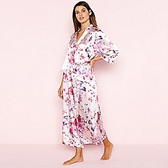 The Collection - Pink Floral Print Wrap Dressing Gown