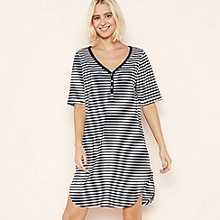 Lounge & Sleep - Navy Stripe Cotton Sleeptee