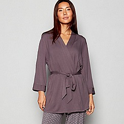 J by Jasper Conran - Grey 'Terry' Soft Touch Dressing Gown