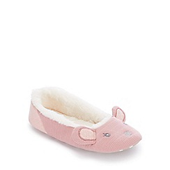 Lounge & Sleep - Pale Pink Mouse Ballet Slippers