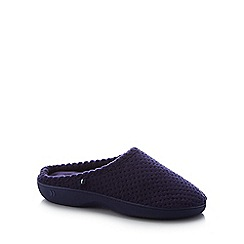 Totes - Navy '360 Surround Comfort' Mule Slippers