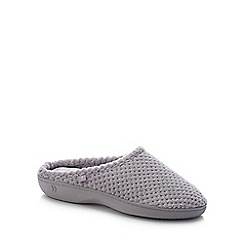Totes - Grey '360 Surround Comfort' Mule Slippers