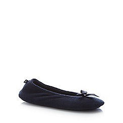 Totes - Navy 'Terry' Ballet Slippers