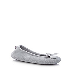 Totes - Grey 'Terry' Ballet Slippers