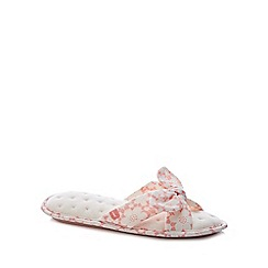 Totes - Pink Floral Cross Strap Slippers