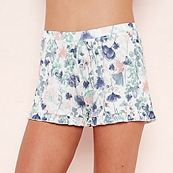 Lounge & Sleep - Cream Floral Print Pyjama Shorts