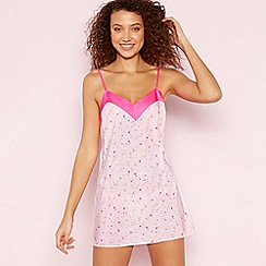 The Collection - Pale Pink Star Print 'Mimi' Chemise