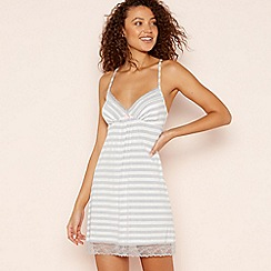 Lounge & Sleep - Light Grey Striped 'Neon Pop' Padded Cup Chemise