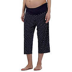 Debenhams - Navy spot print cropped maternity pyjama bottoms