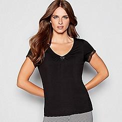J by Jasper Conran - Black 'Sanddune' pyjama top