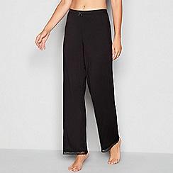J by Jasper Conran - Black 'Sanddune' lace pyjama bottoms