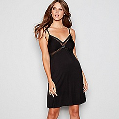 J by Jasper Conran - Black lace trim chemise