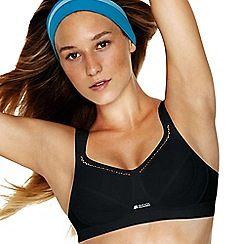 Shock Absorber - Black 'Active Classic Support' non-wired non-padded sports bra