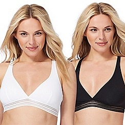 The Collection - 2 pack assorted non-wired non-padded crop tops