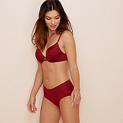 The Collection - Dark red 'Perfect Fit' underwired non-padded t-shirt bra