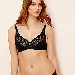 Triumph - Black 'Amourette Charm' underwired non-padded full cup bra