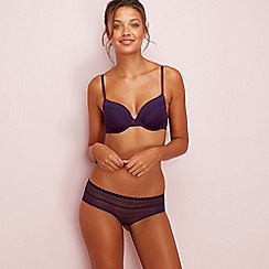The Collection - Purple lace underwired non-padded t-shirt bra