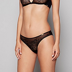 Gossard - Black lace 'Glossies' bikini knickers