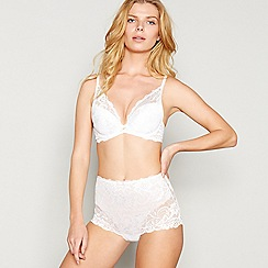 Gossard - White lace 'Gypsy' underwired padded plunge bra